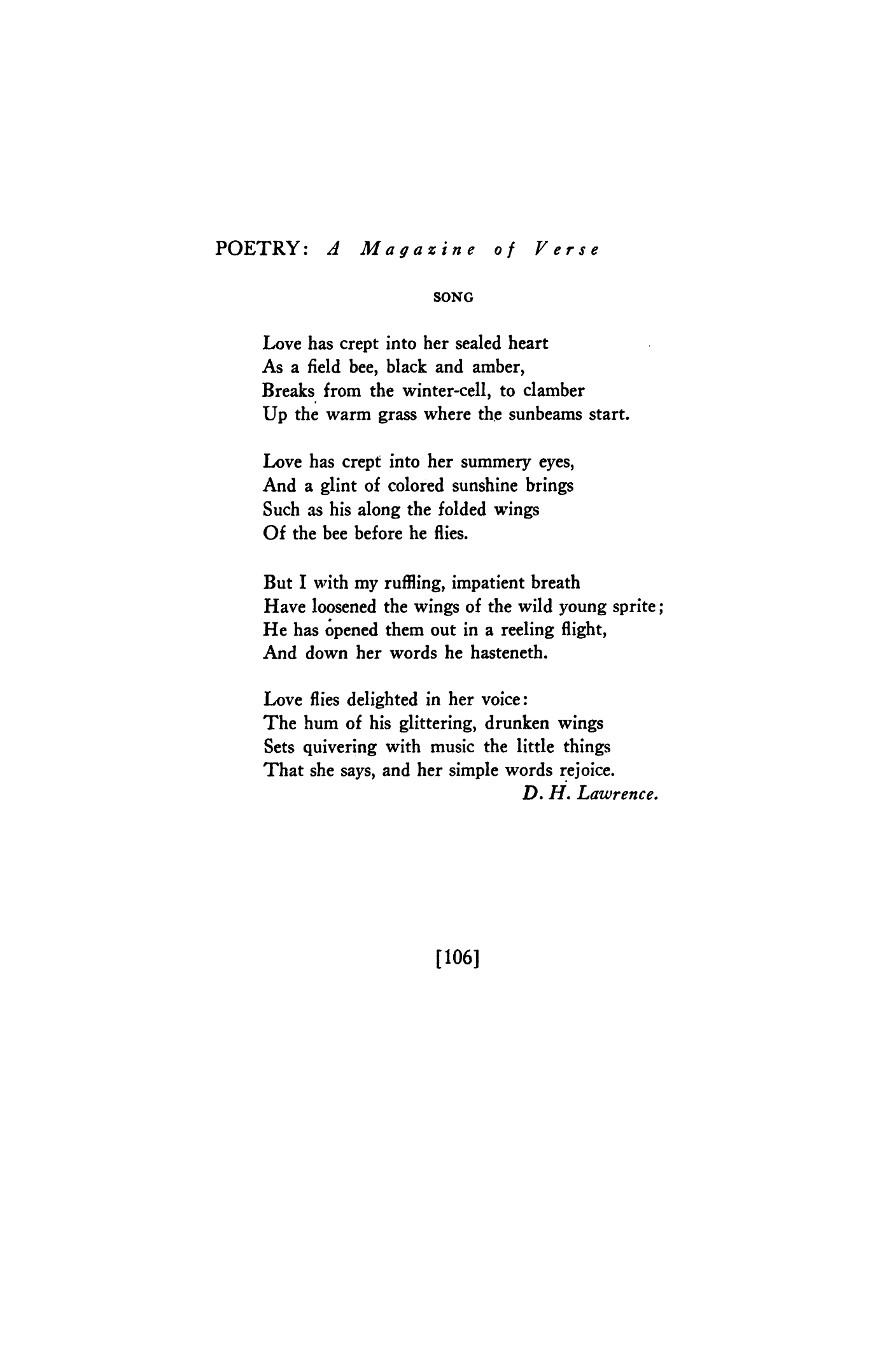 dh lawrence poems wild thing
