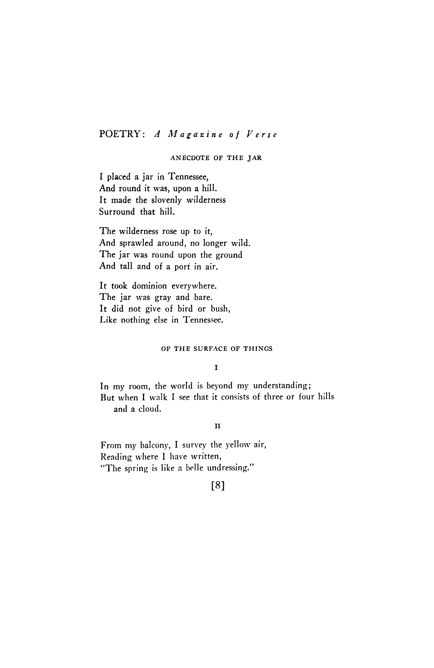 just by Wallace Stevens