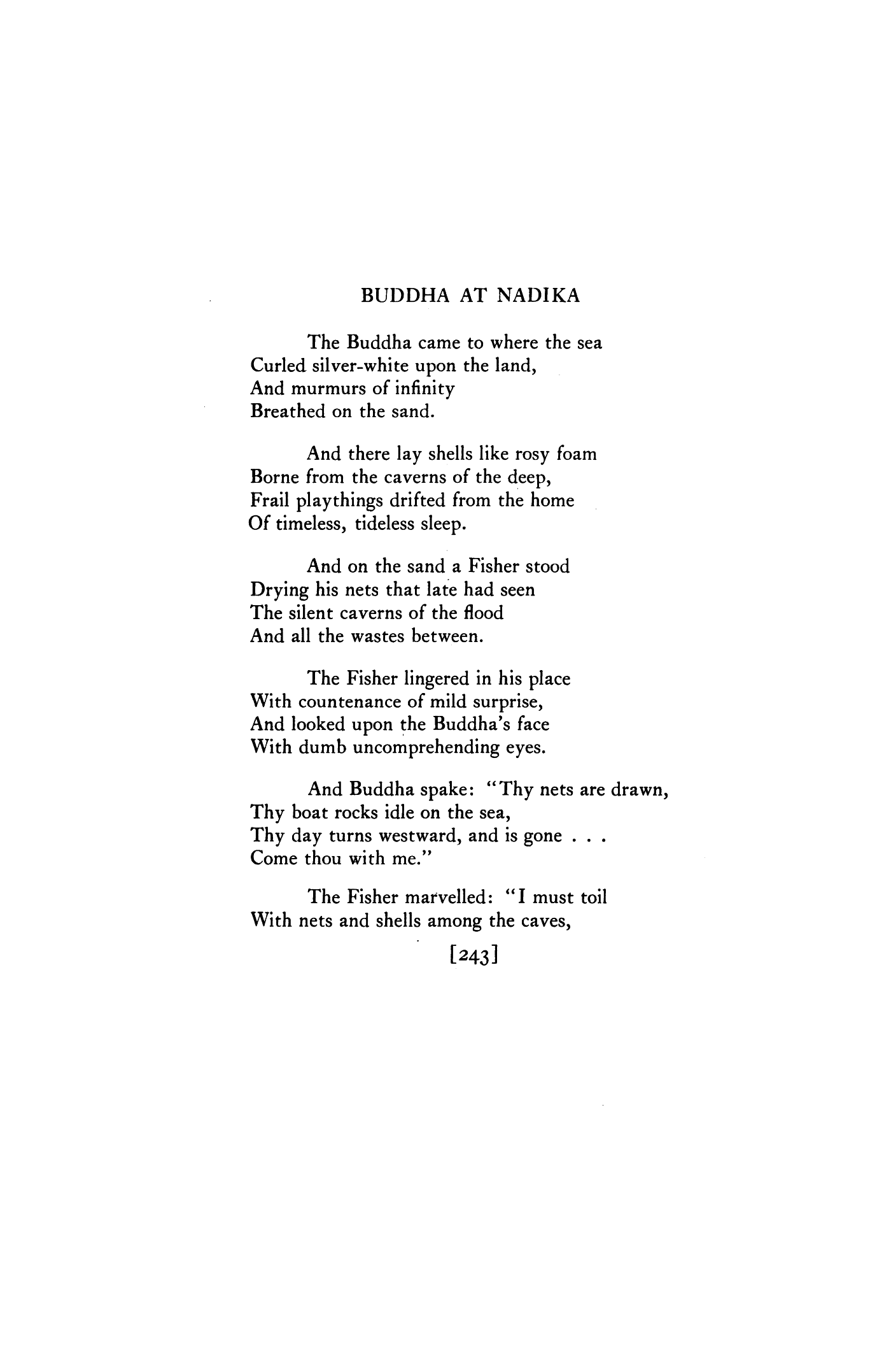 Buddha At Nadika By Arthur Davison Ficke Poetry Magazine
