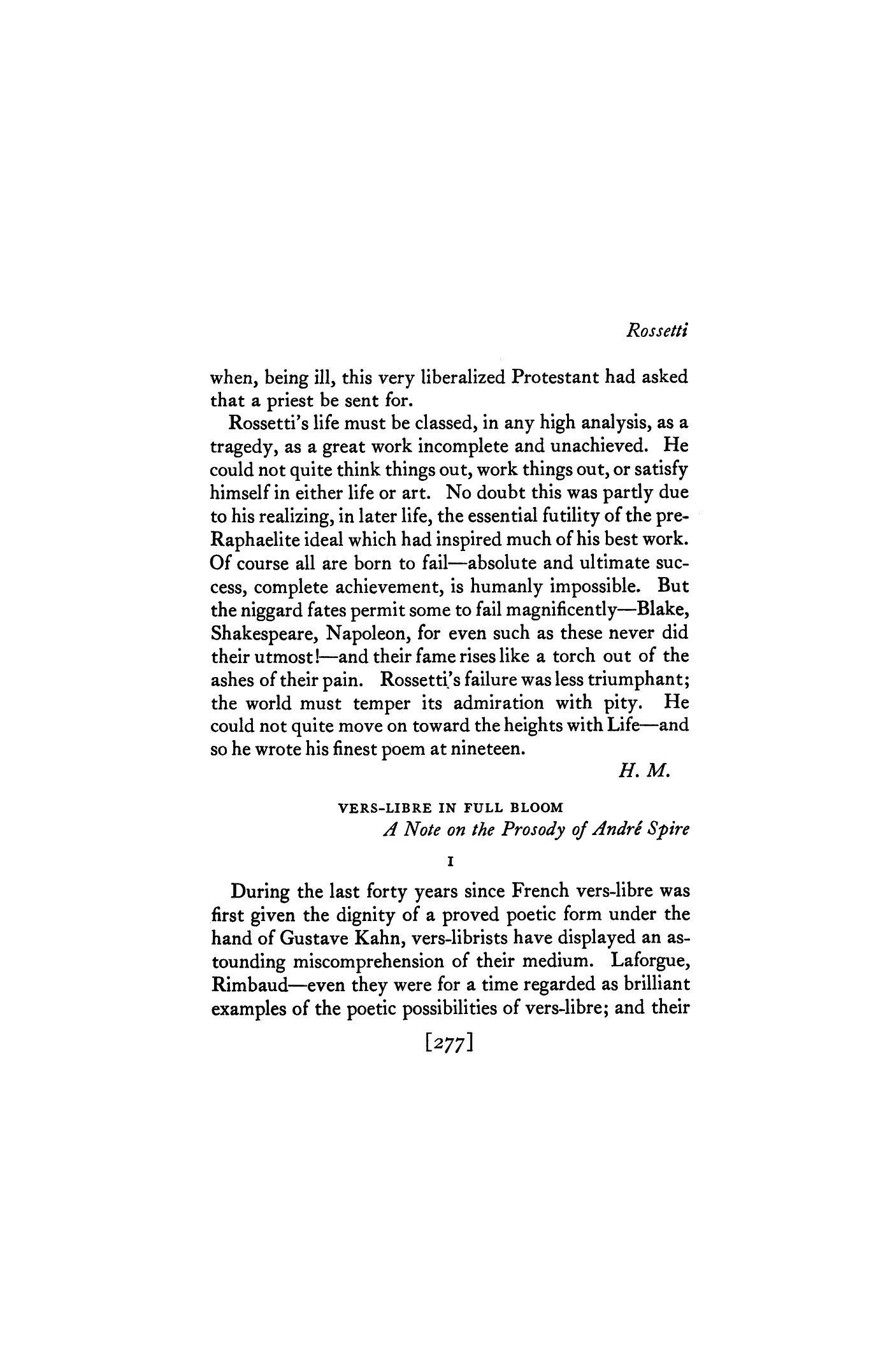 Vers-Libre in Full Bloom by Stanley Burnshaw | Rossetti by Harriet ...