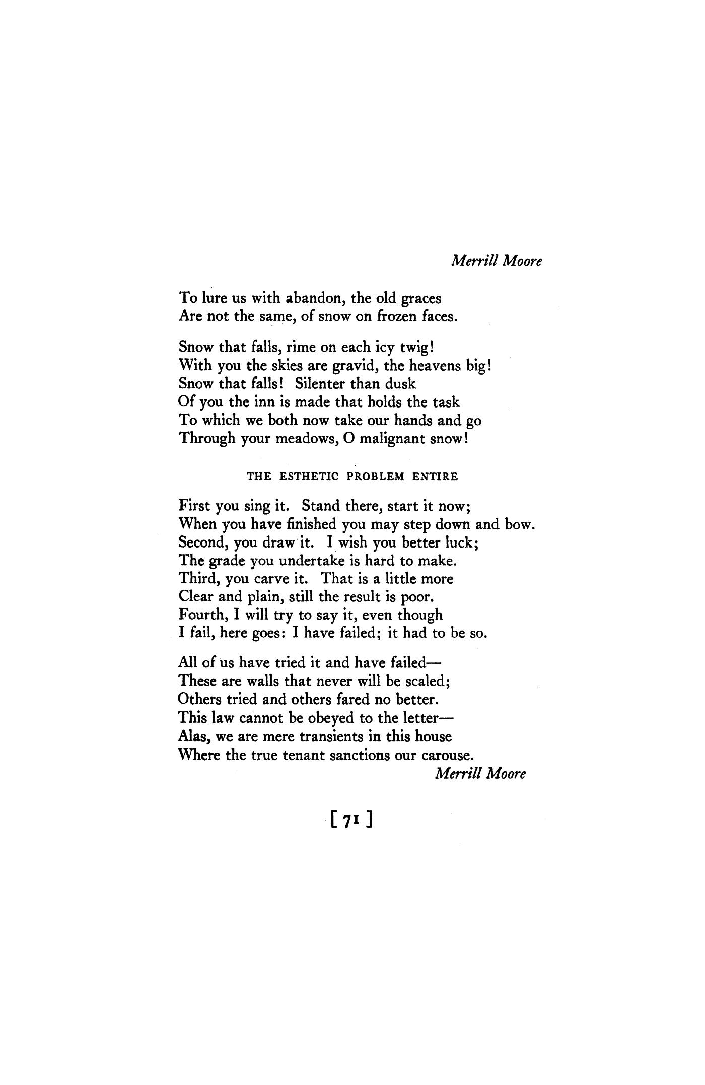 moore poetry