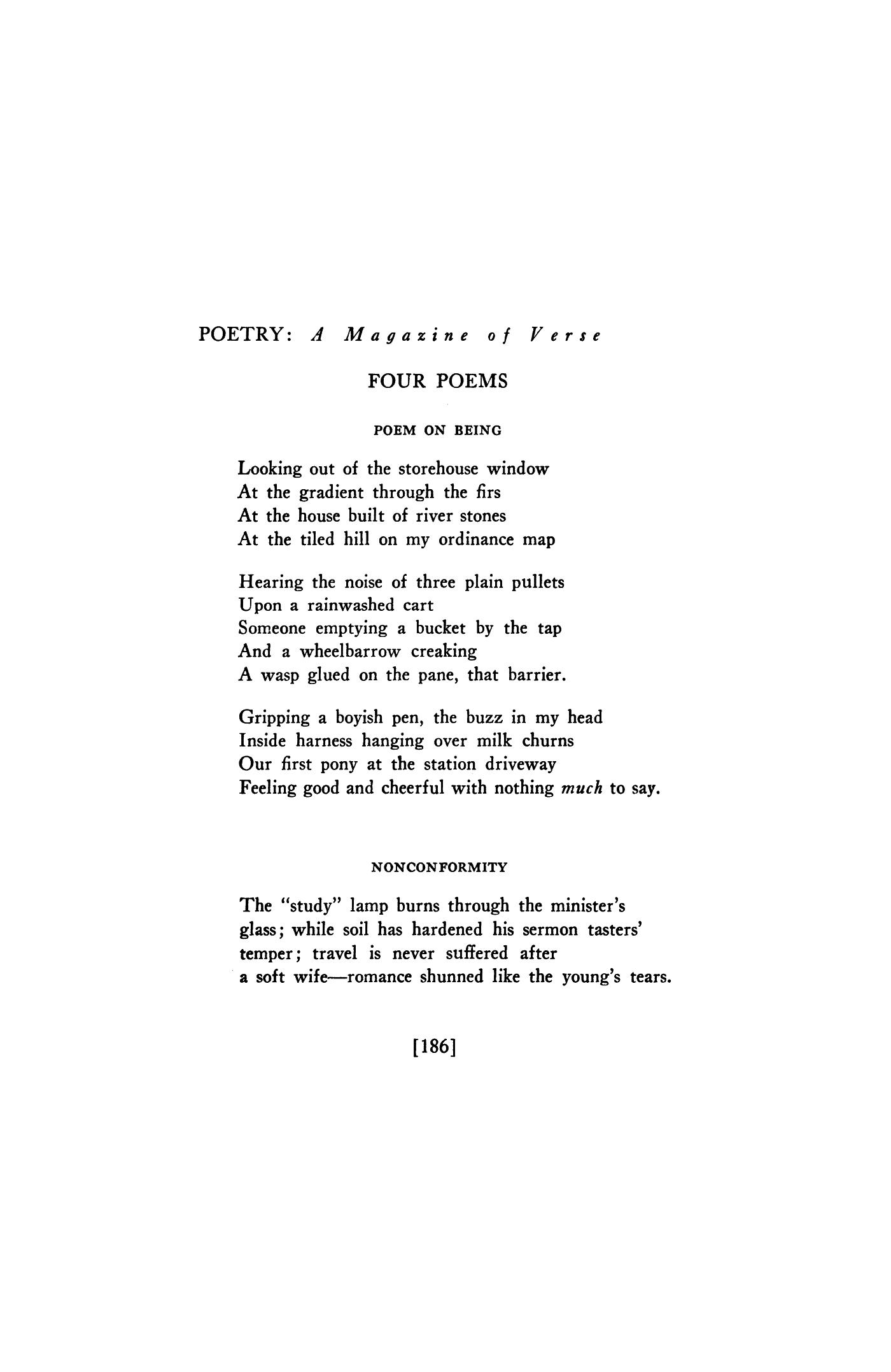 Poem On Being By Keidrych Rhys Nonconformity By Keidrych Rhys