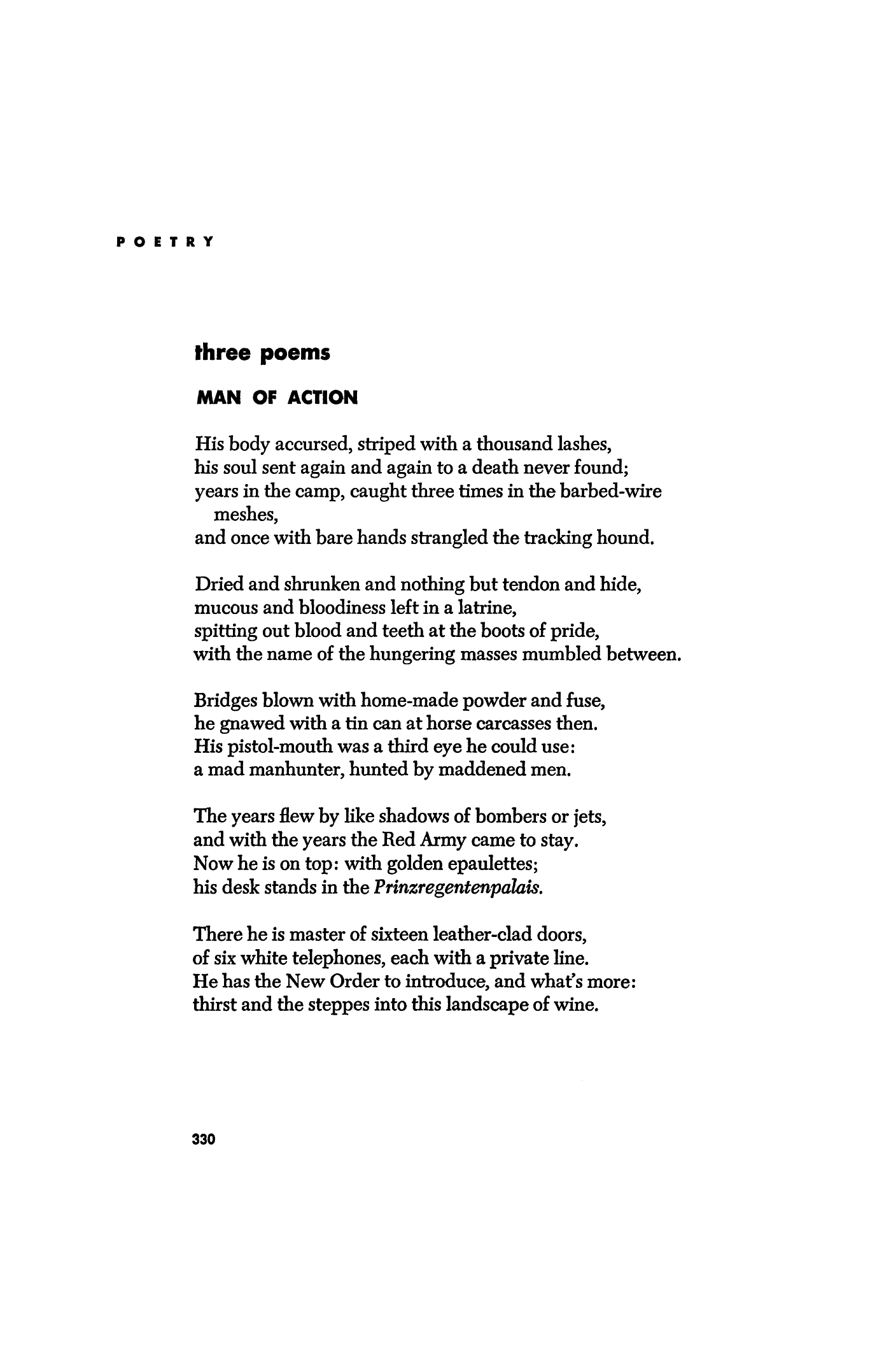 Man of Action by Hans Egon Holthusen | Poetry Magazine