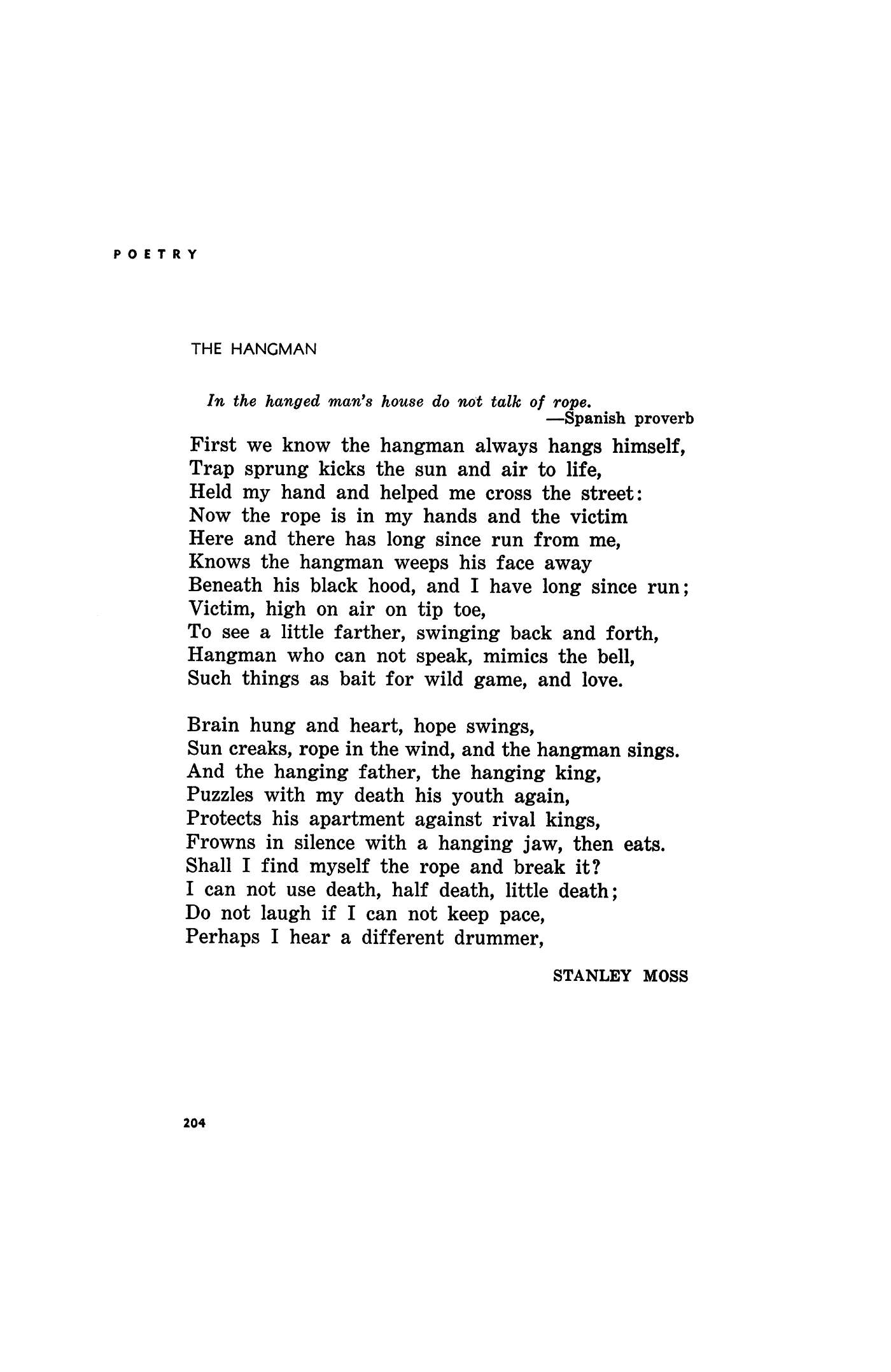 Poem For The Hangman