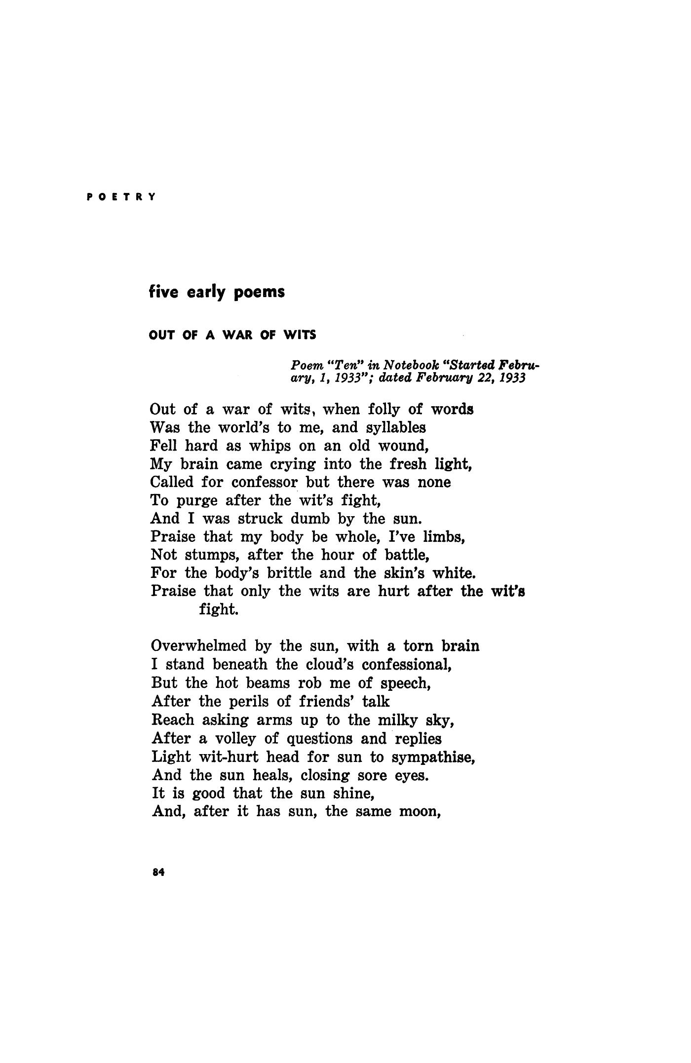 short war poems