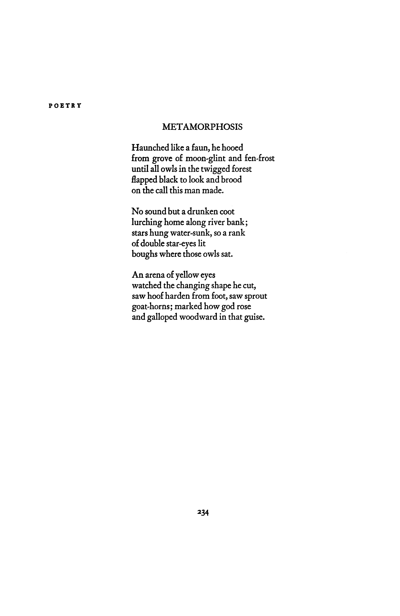 Metamorphosis By Sylvia Plath Poetry Magazine