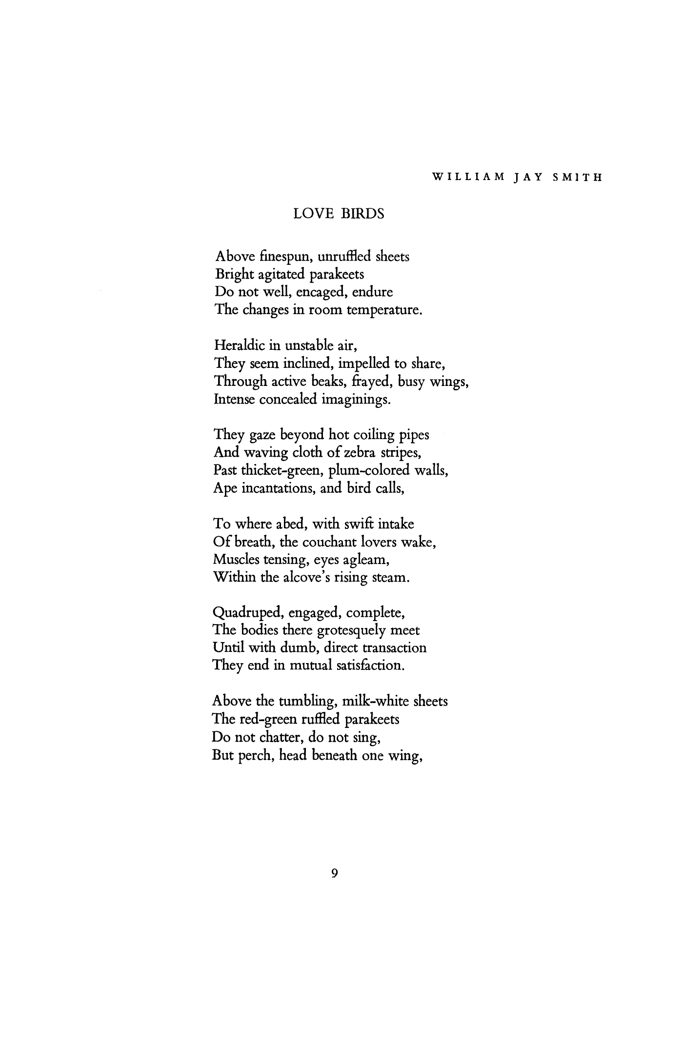 Love Birds by William Jay Smith | Poetry Magazine