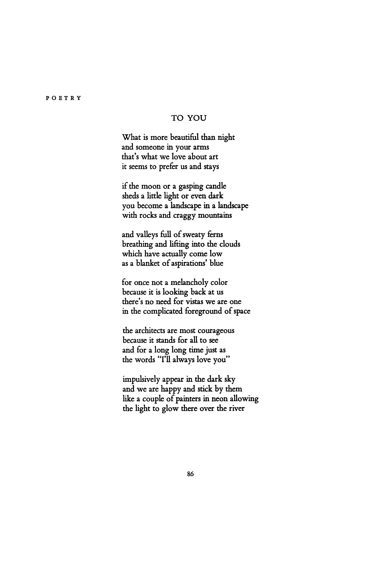 To You By Frank Ohara Poetry Magazine