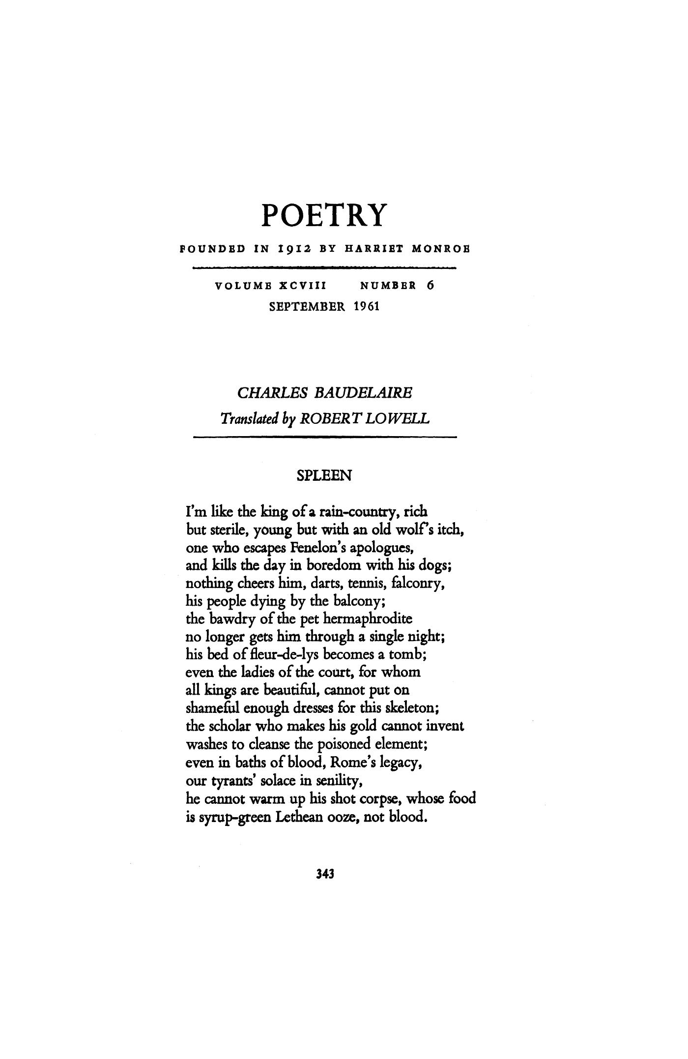 Bodler poetry