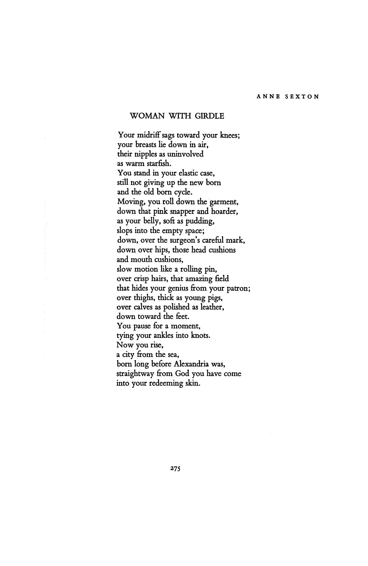 anne sexton analysis