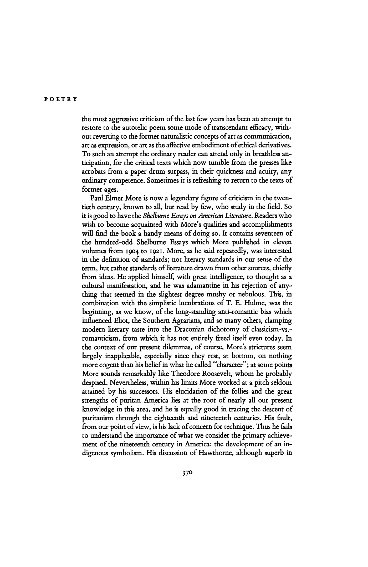 essays on poetic theory