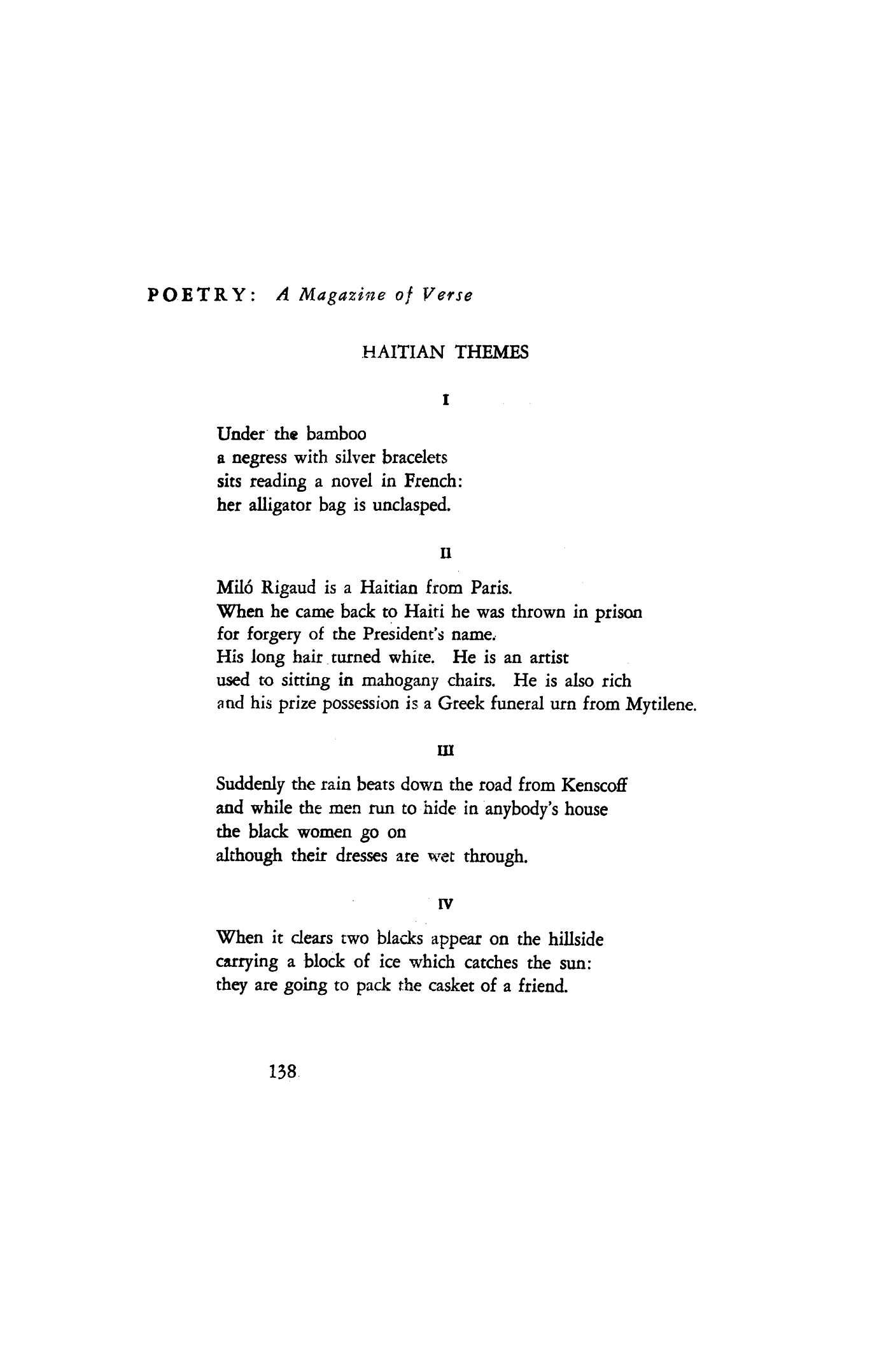 Haitian Themes By Anthony Kerrigan Poetry Magazine View a list of new poems for theme by modern poets. haitian themes by anthony kerrigan