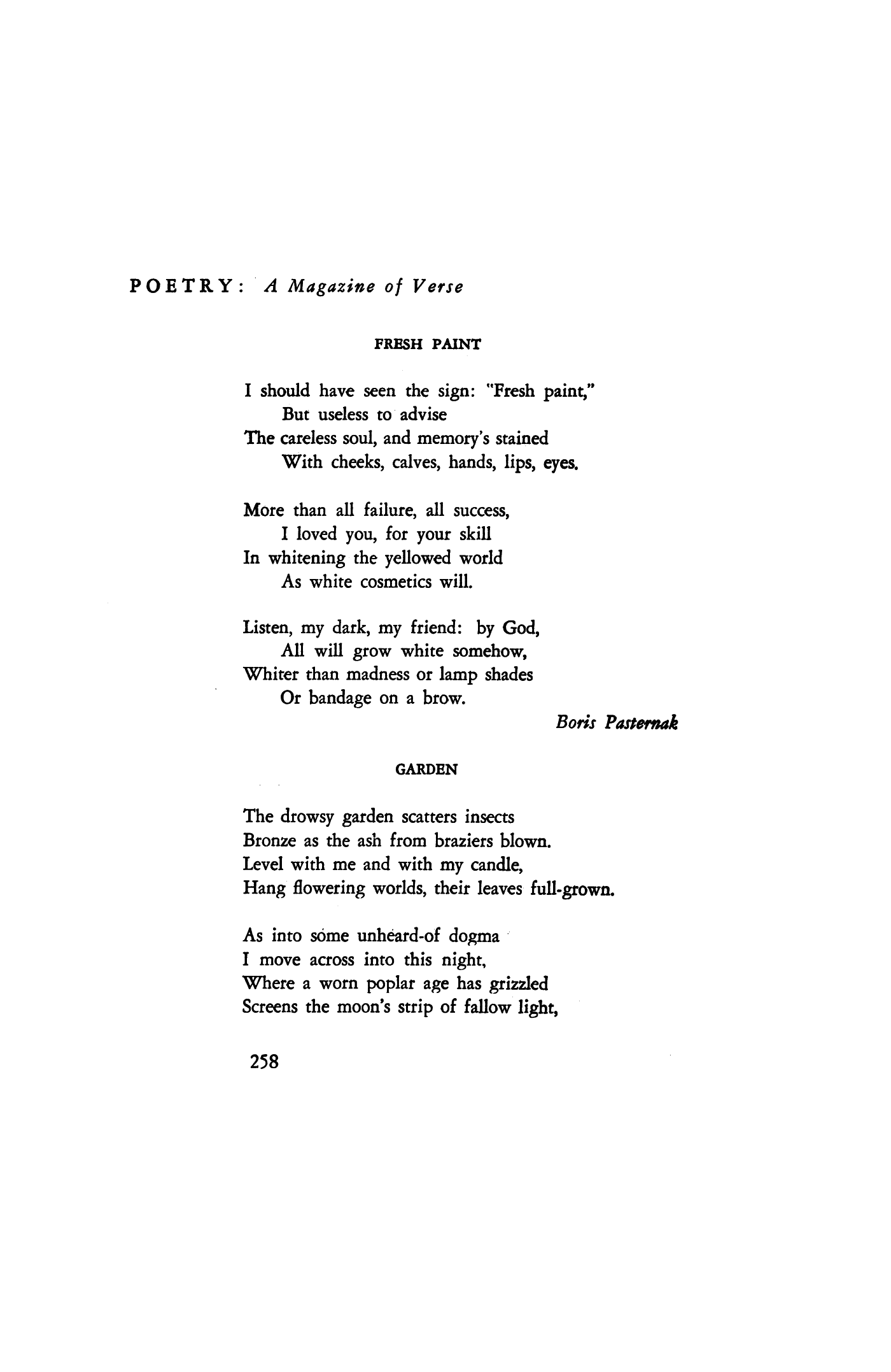 Poem by Boris Pasternak 85