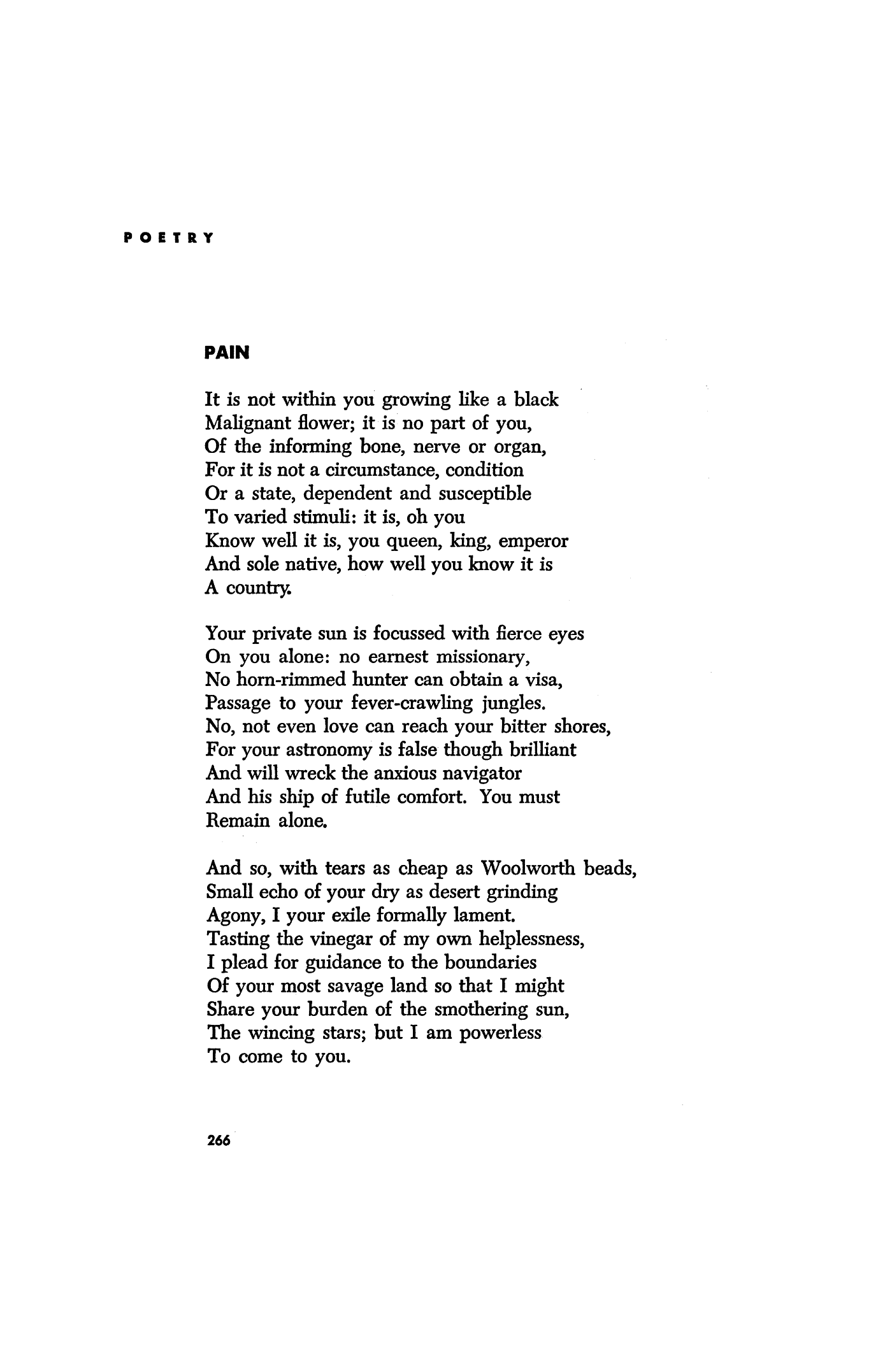 Why is love so painful poem
