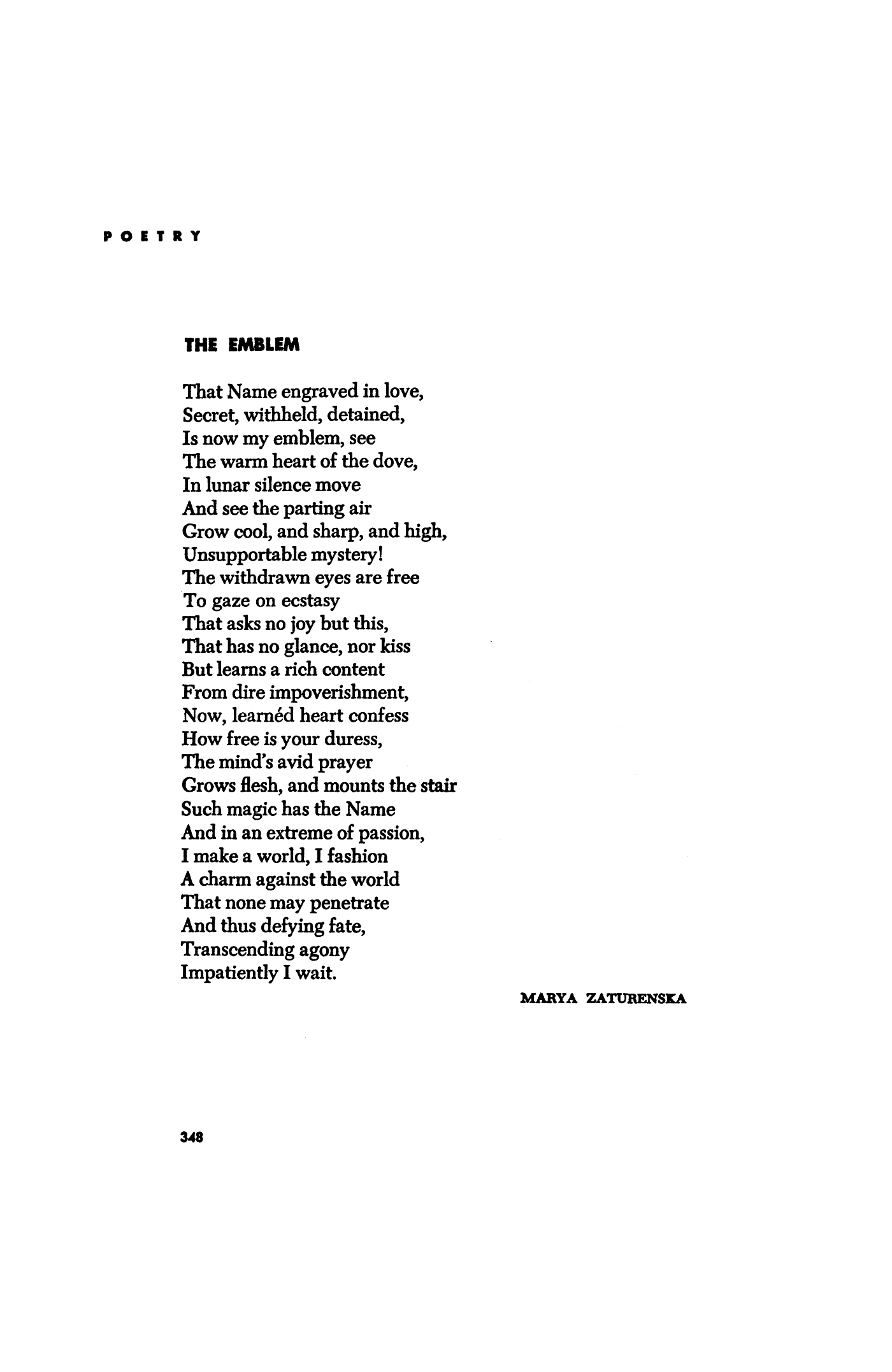 Marya Zaturenska horace gregory
