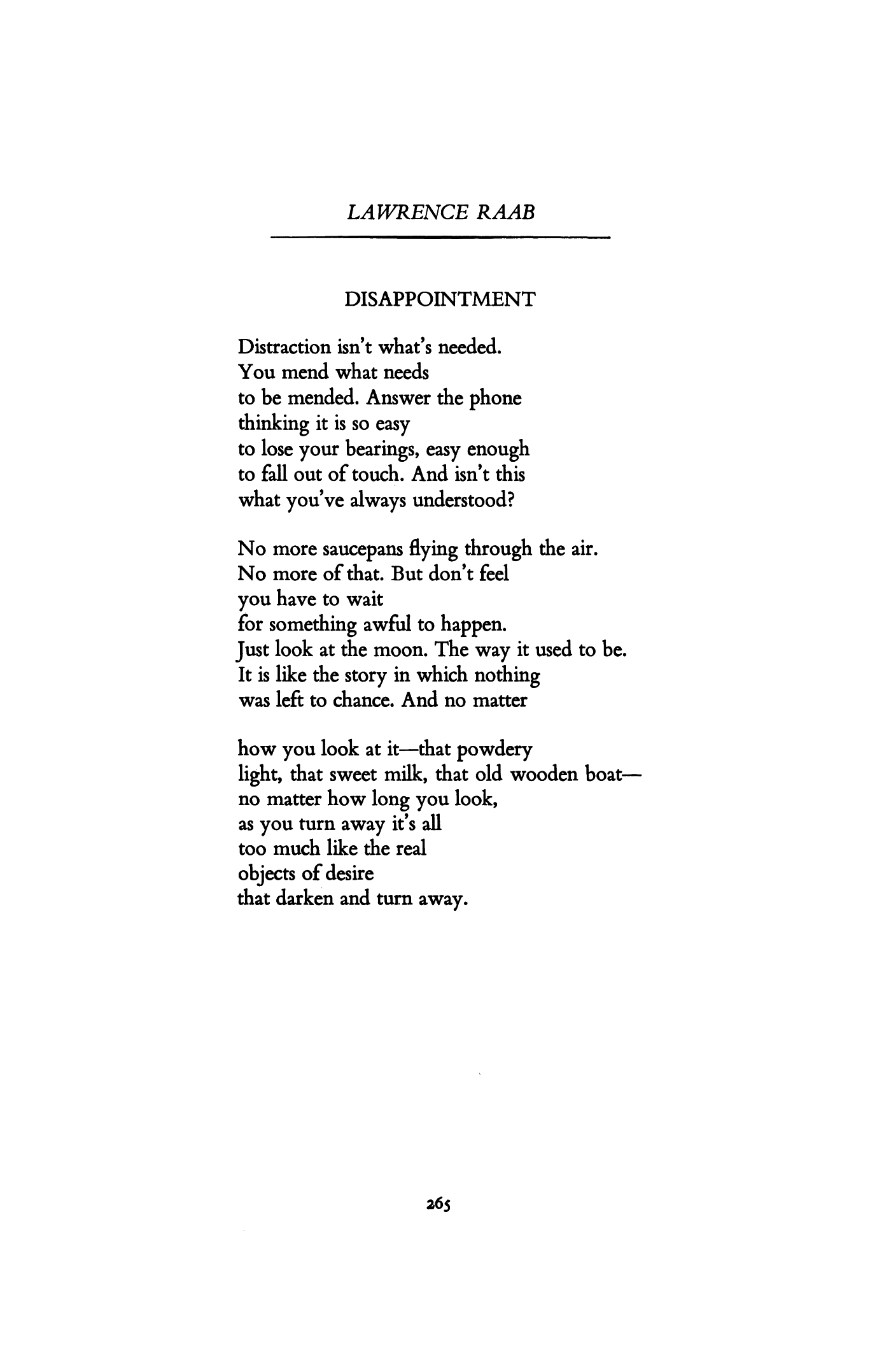 the dissatisfaction poem