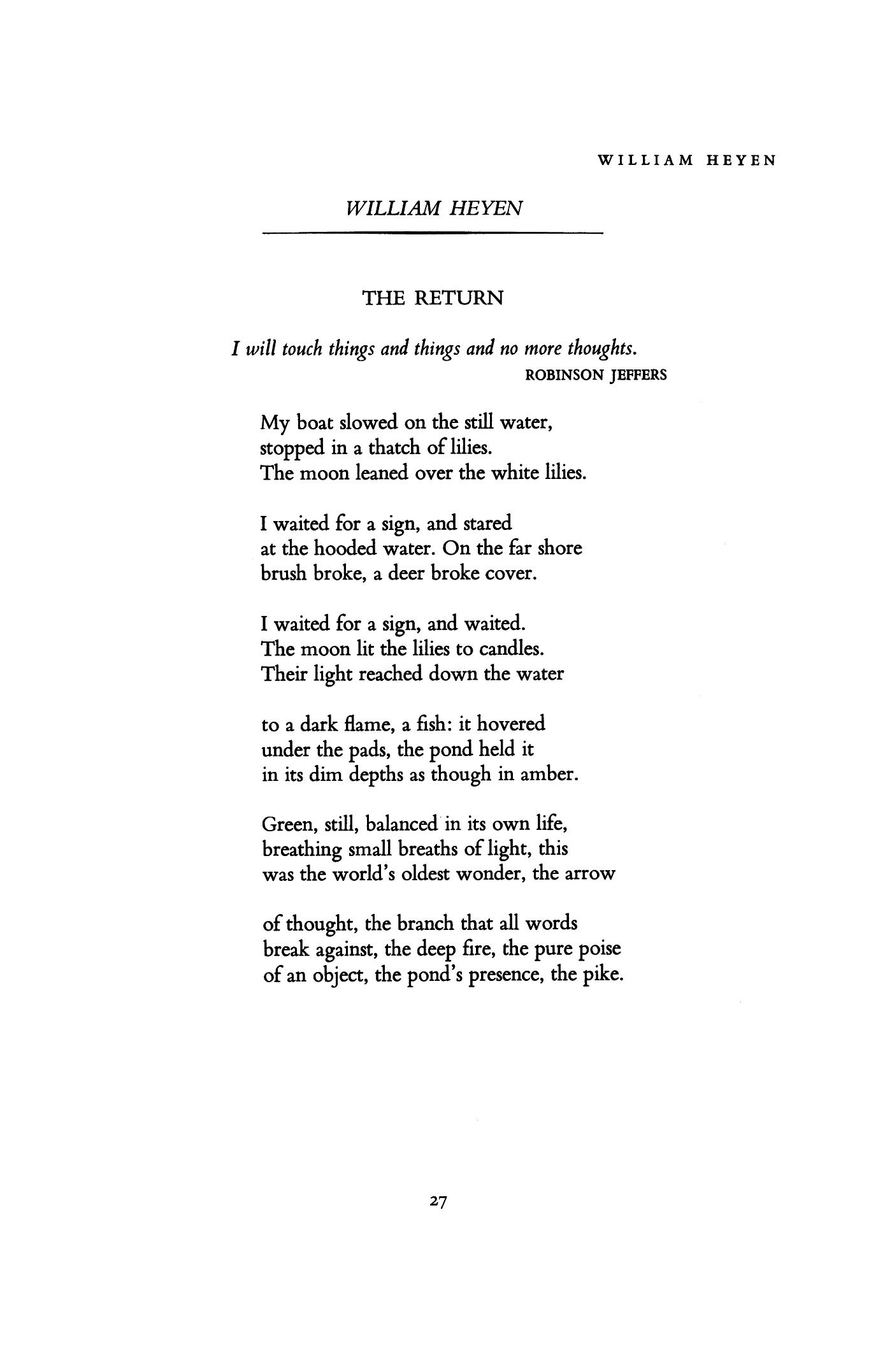 William Heyen poems