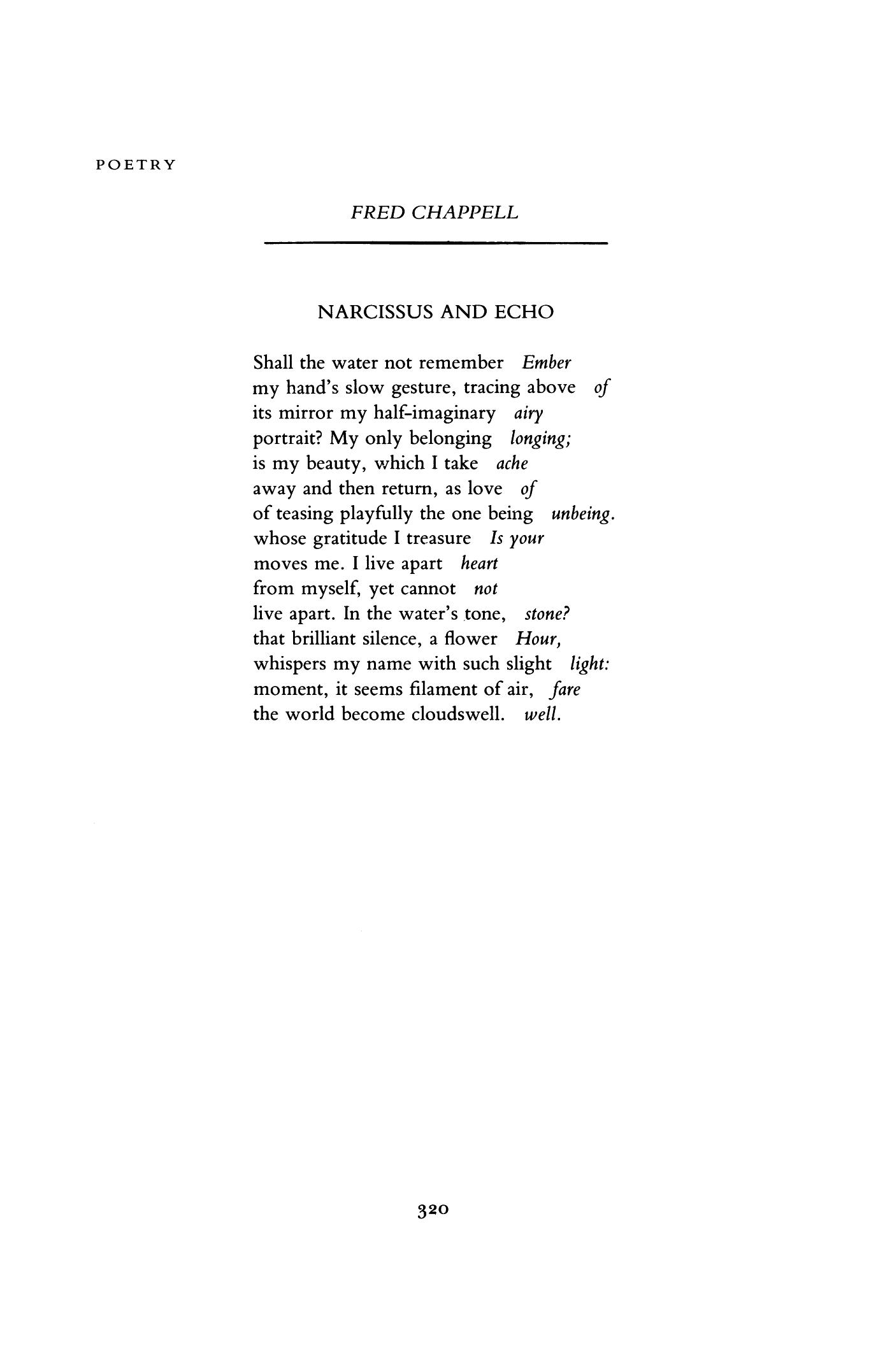 echo poem analysis