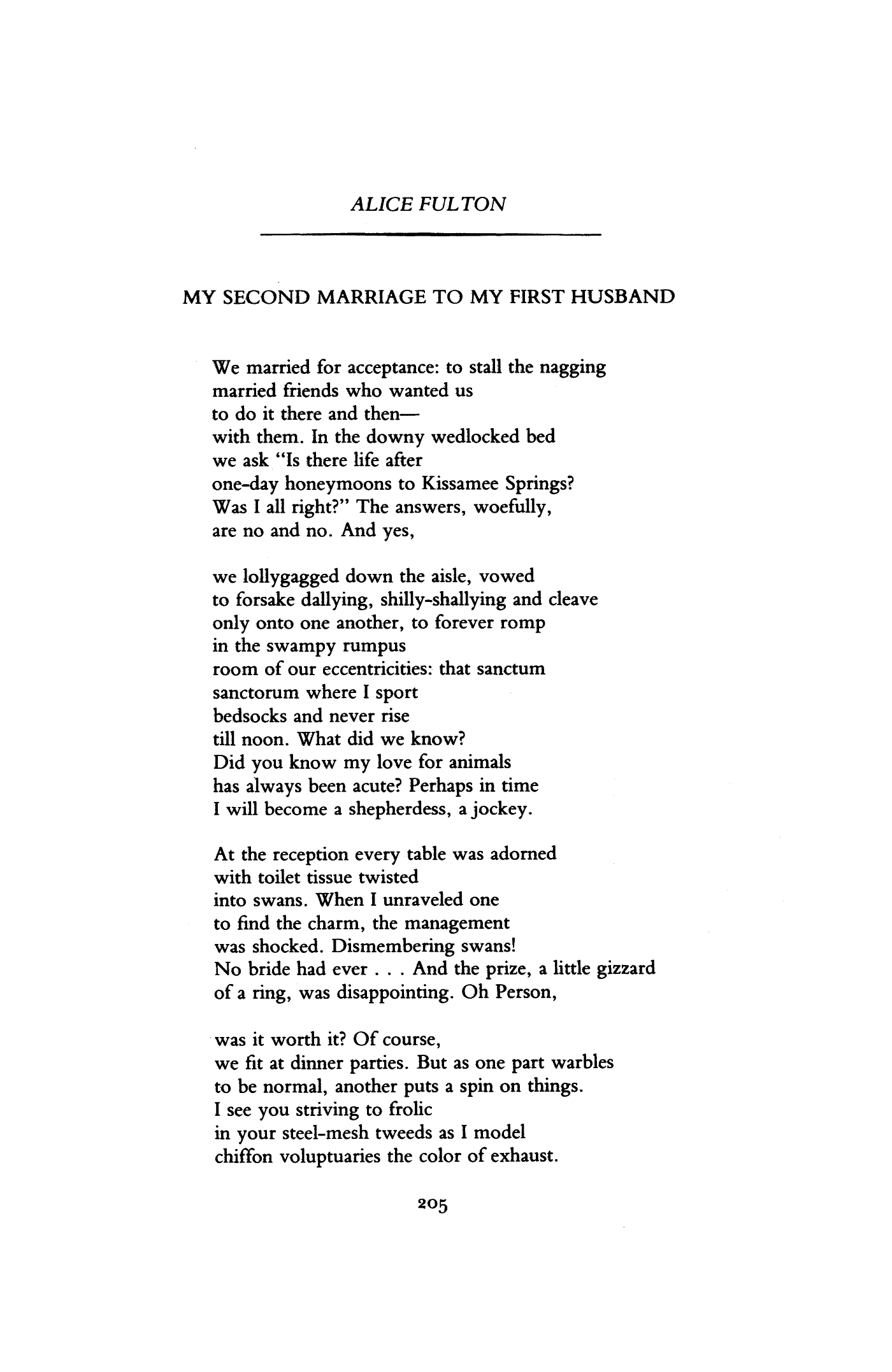 My Second Marriage To My First Husband By Alice Poetry Magazine