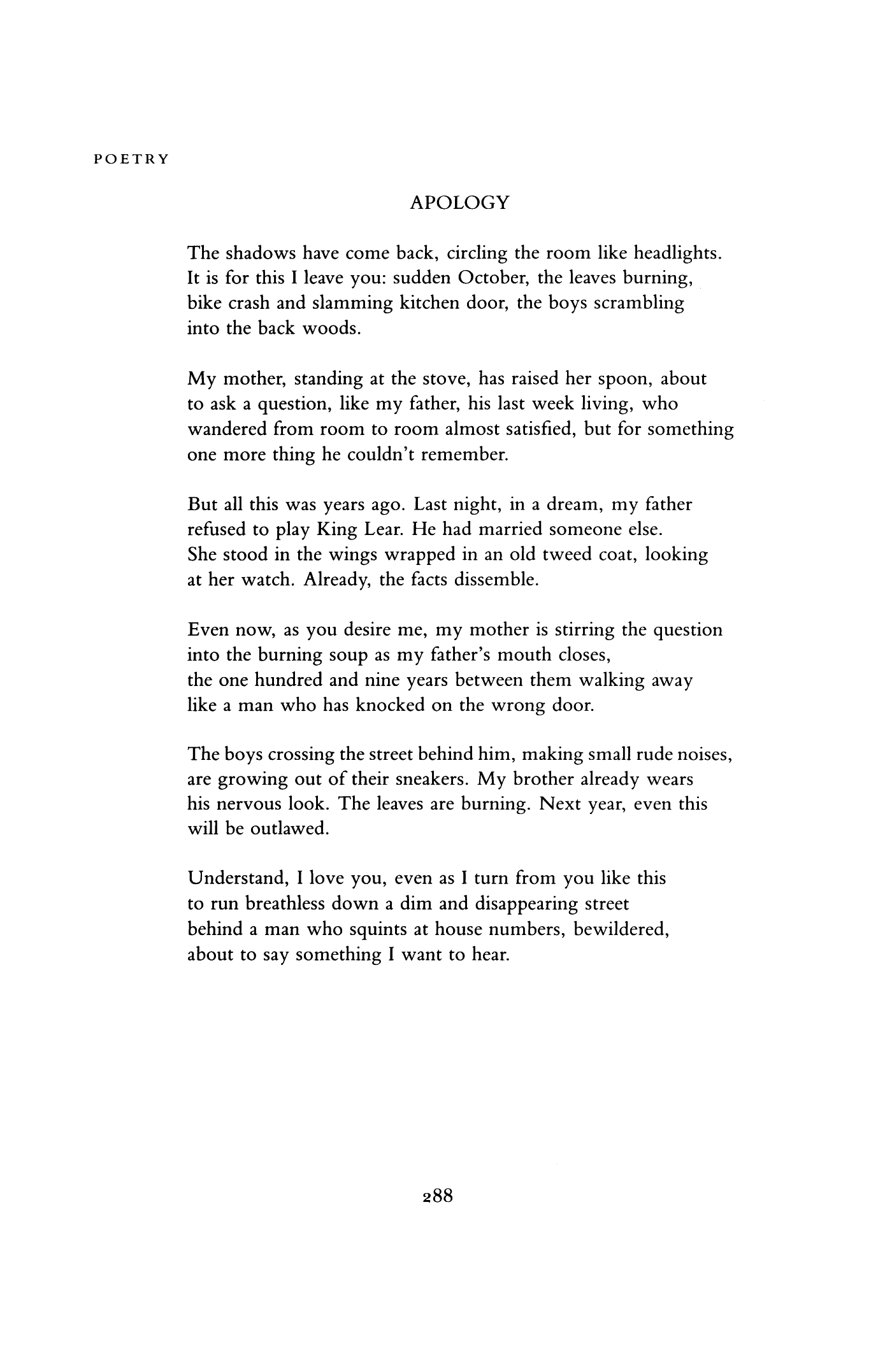 the apology poem meaning