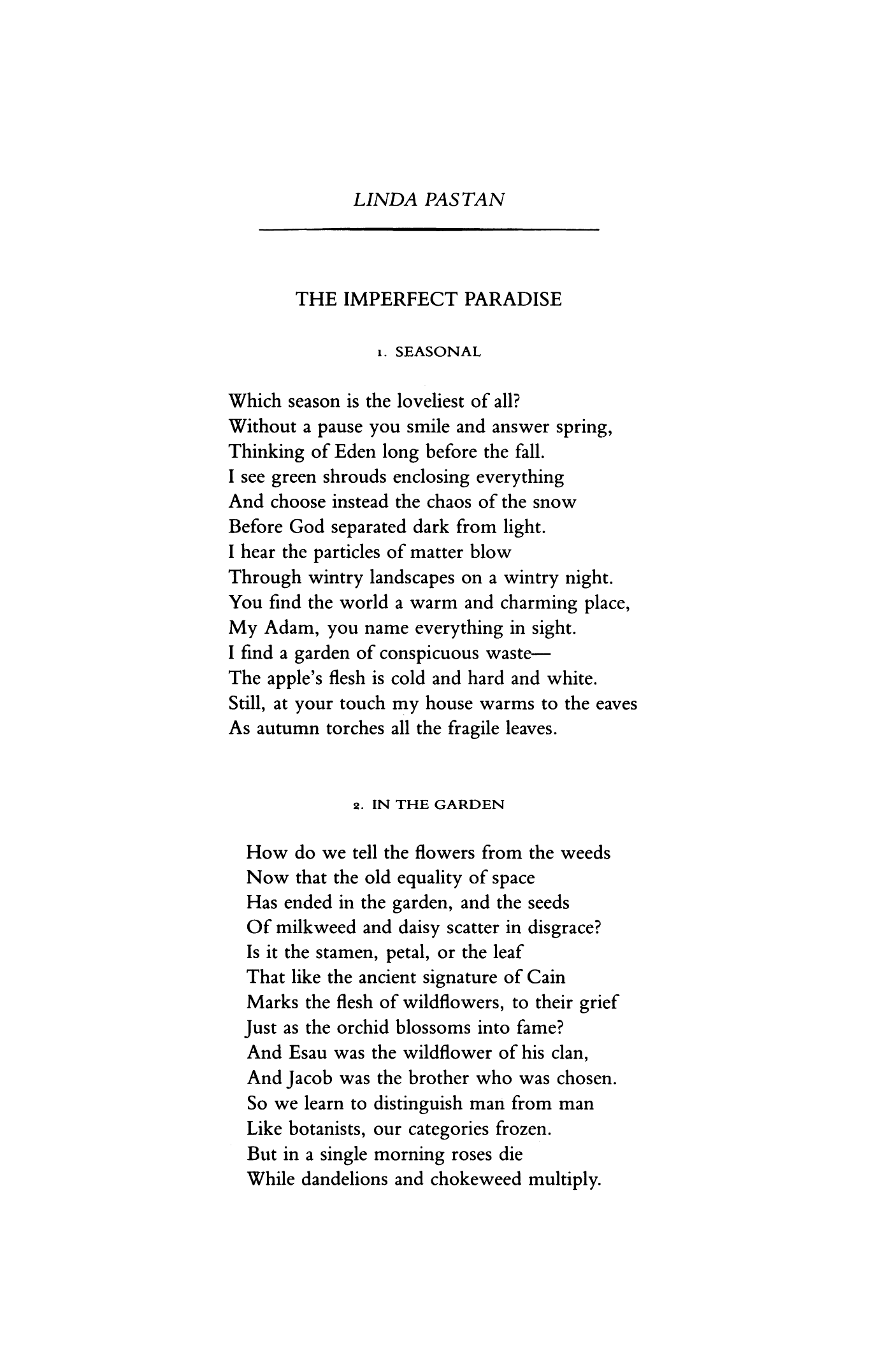 Imperfect Poetry