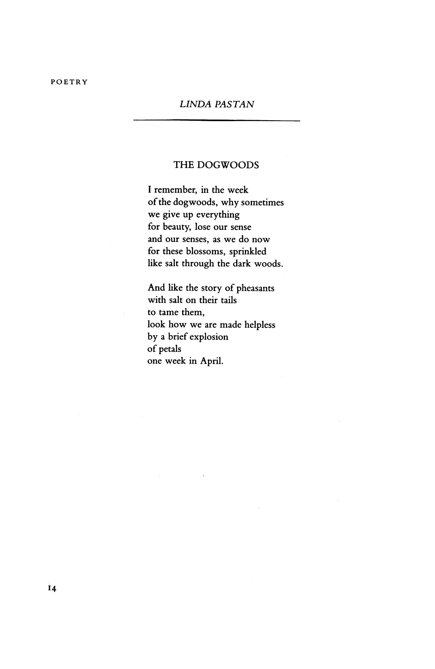 linda pastan To a daughter leaving home, by linda pastan - poem 075 of poetry 180: a poem a day for american high schools, hosted by billy collins, us poet laureate, 2001-2003 (poetry and literature.