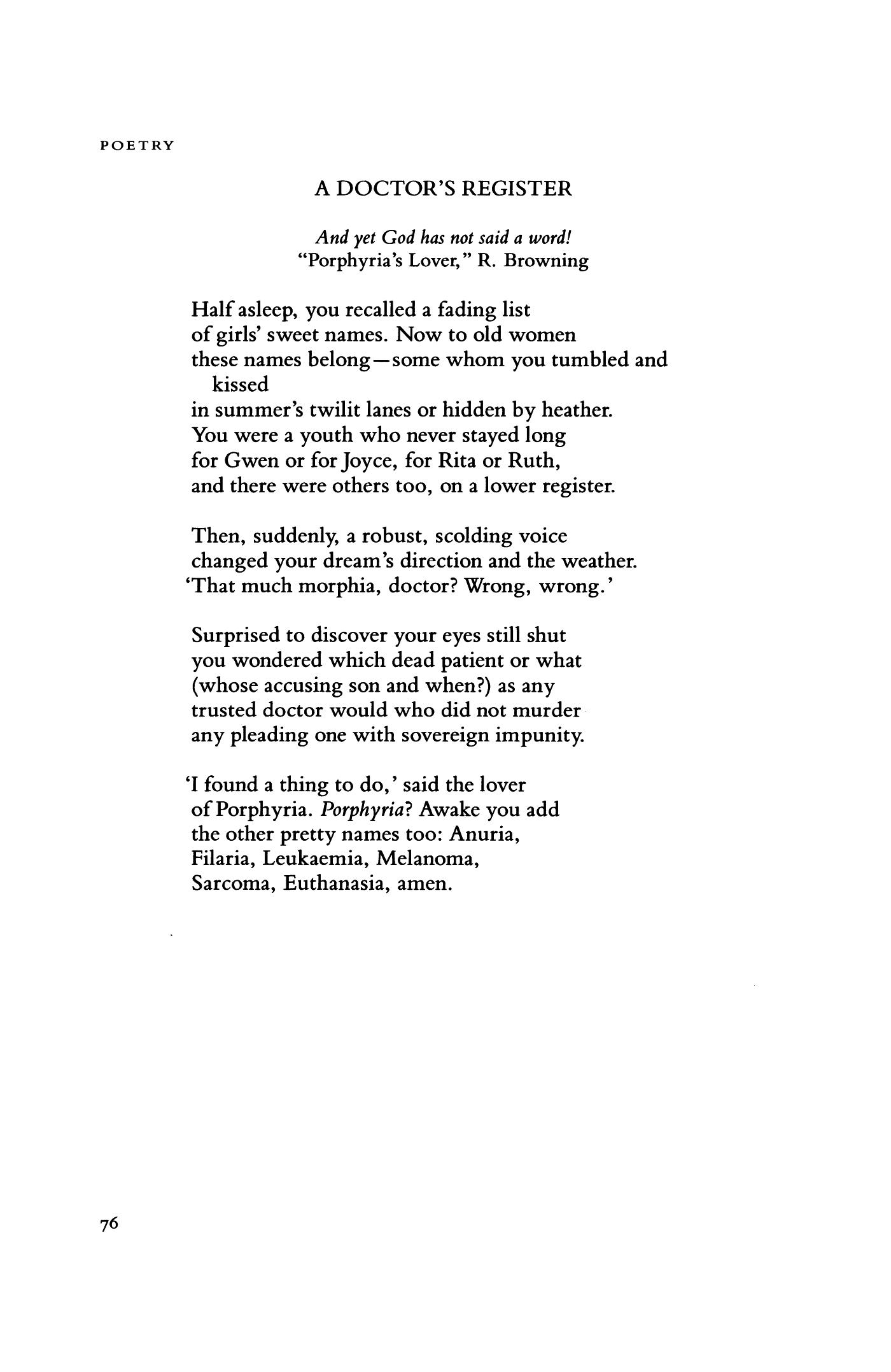euthanasia poem