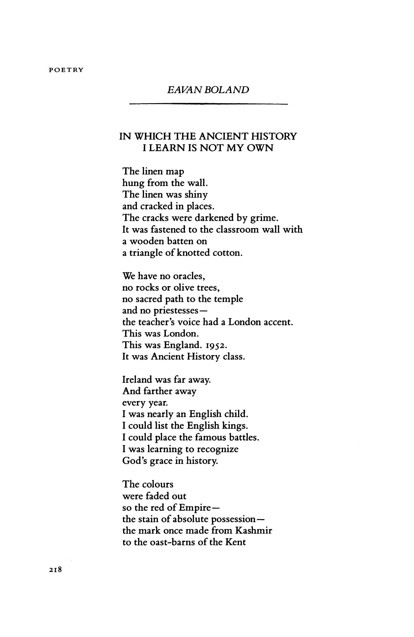 eavan boland poems pdf