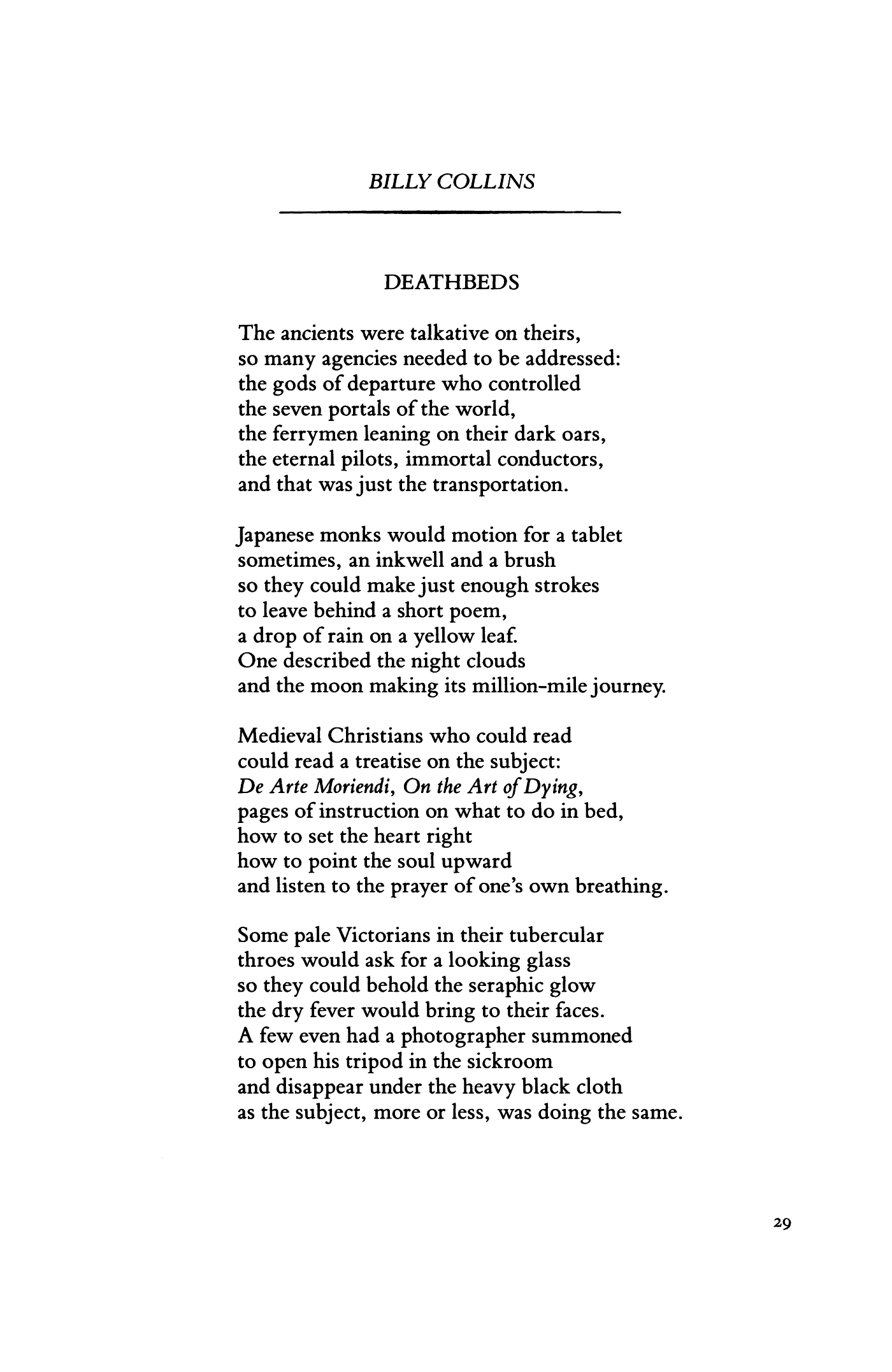 the afterlife billy collins pdf