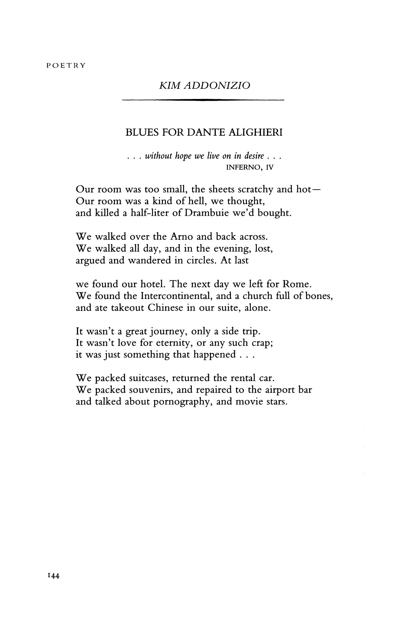 Kim Addonizio desire