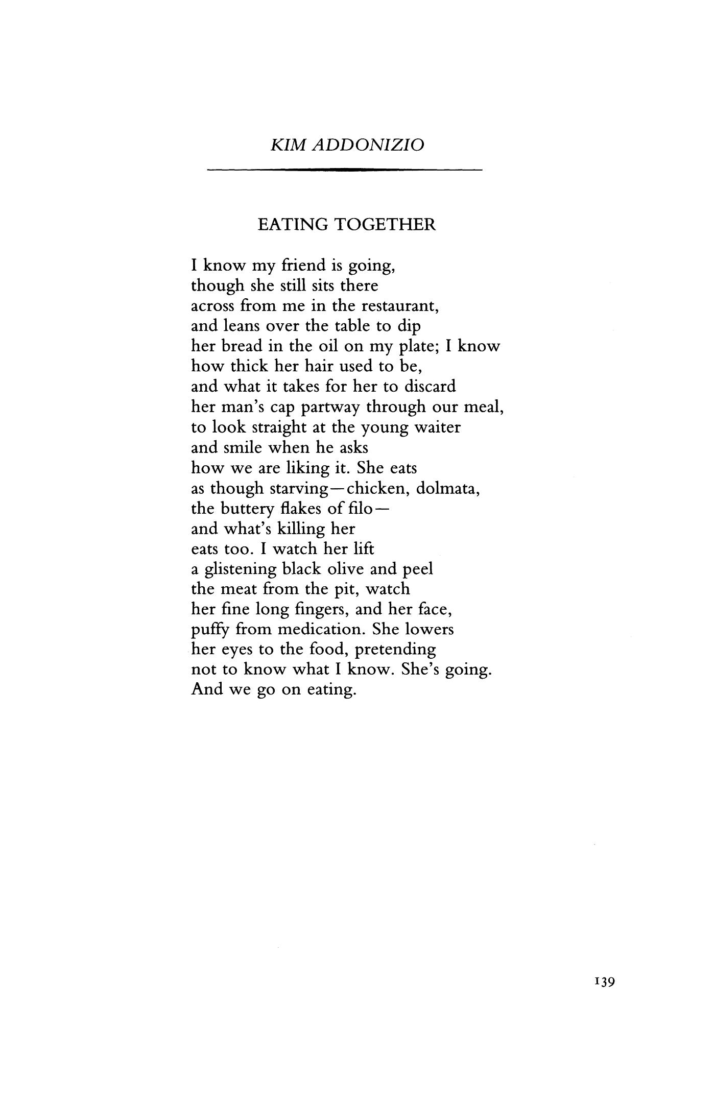 eating together poem