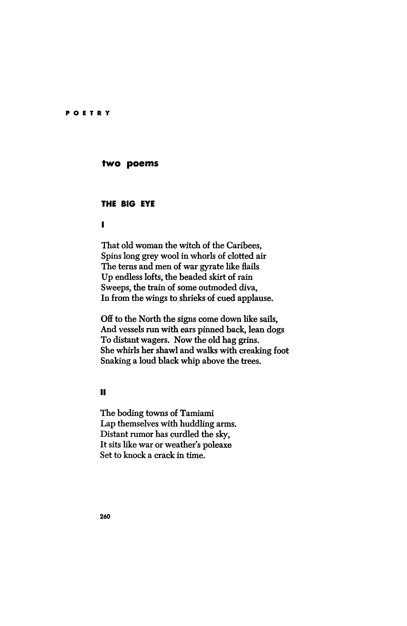 The Big Eye by Andrew Glaze | Poetry Magazine
