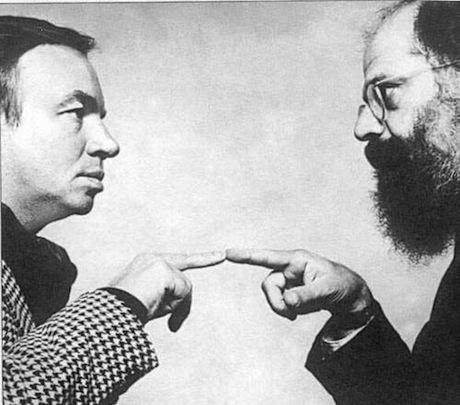 Andrei Voznesensky and Allen Ginsberg