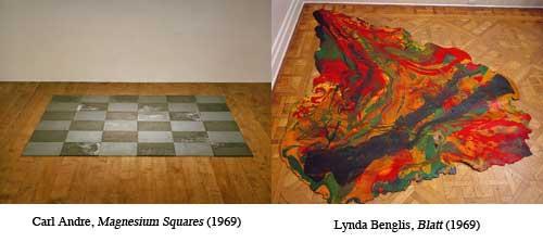Carl Andre / Lynda Benglis Floor Pieces