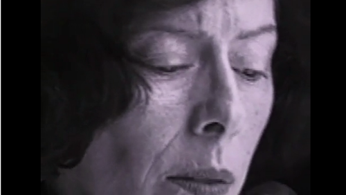Screen shot from a video by Cecilia Dougherty.