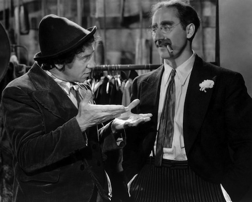 Groucho & Chico Marx in A Night at the Opera, 1935