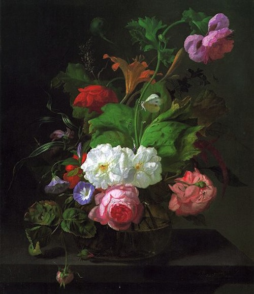 Summer Flowers in a Vase. Rachel Ruysch (1664-1750).