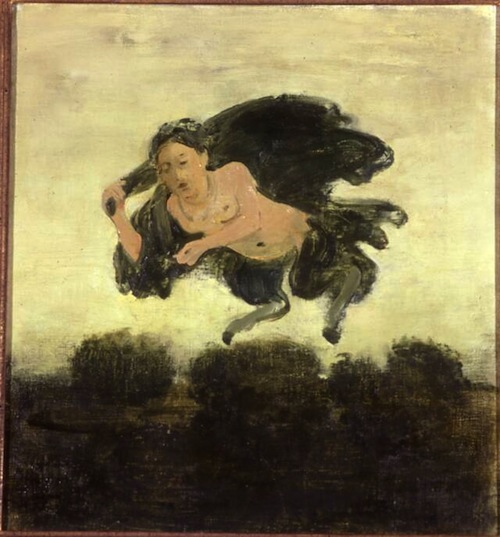 Albert York, Flying Figure, oil on canvas, circa 1968,  14 x 13 in.  Sheldon Memorial Art Gallery, University of Nebraska-Lincoln