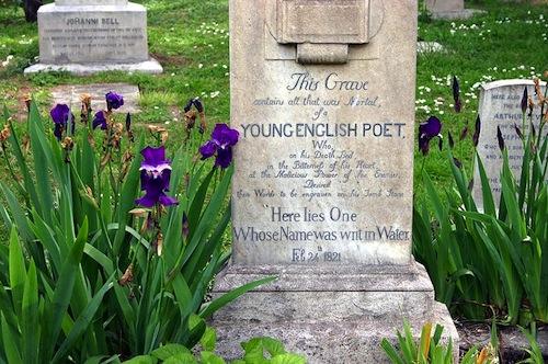 Keats's Grave, Accatolico Cemetery, Rome.