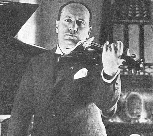 Mussolini with Violin
