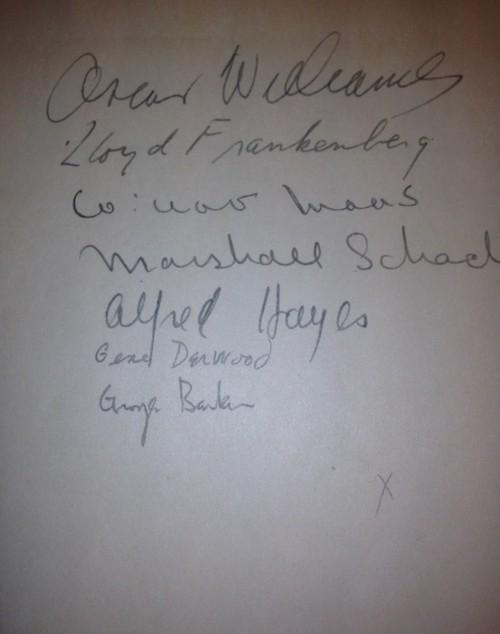 Flyleaf of New Poems 1940 signed by editor and several contributors.