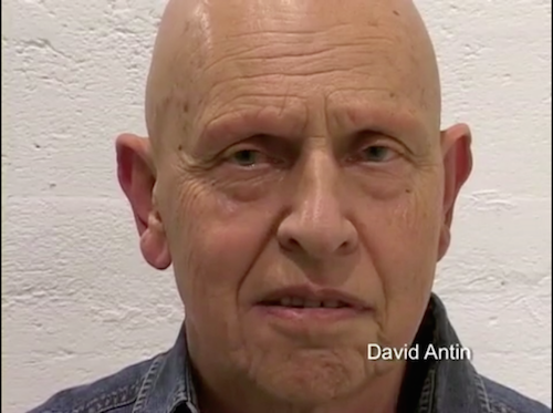 David Antin in poetry is.