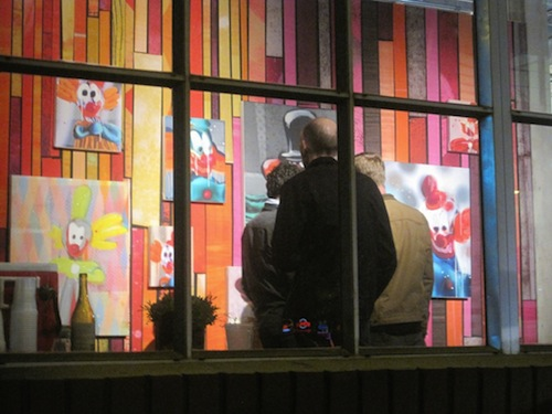 Artist Rex Ray's iconic paintings of clowns at Gallery 16 in San Francisco