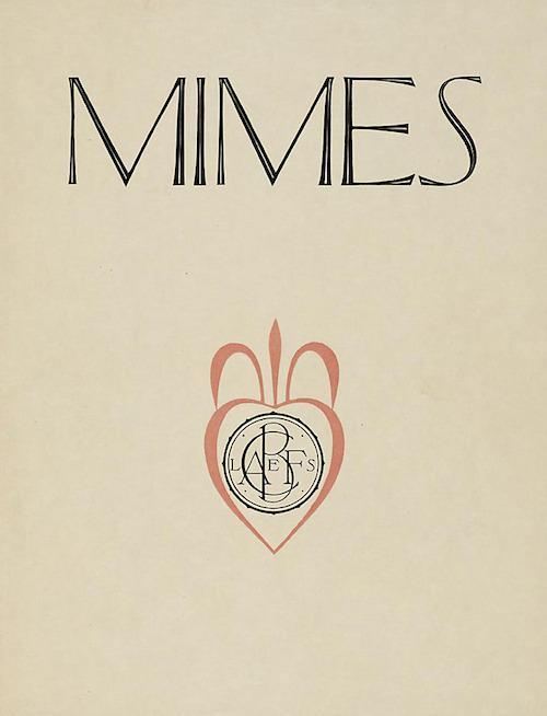 Mimes by Marcel Schwob