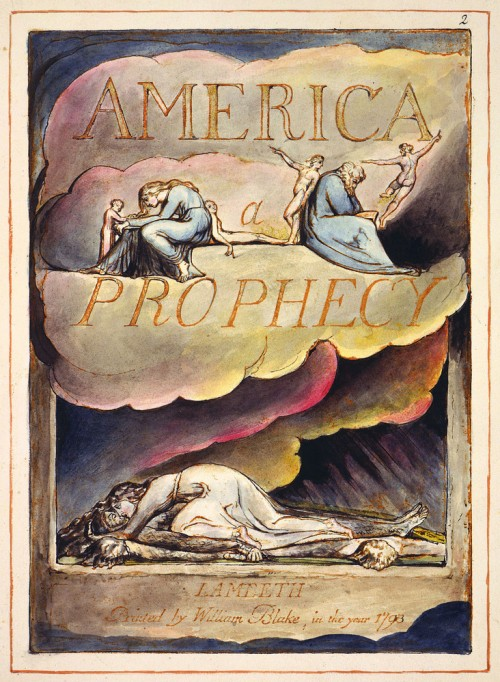 """""""America a Prophecy"""" title page (1793)"""