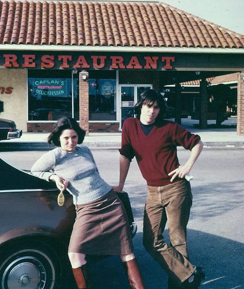 Posing with Rachel, circa 1978.  Very Bonnie & Clyde.