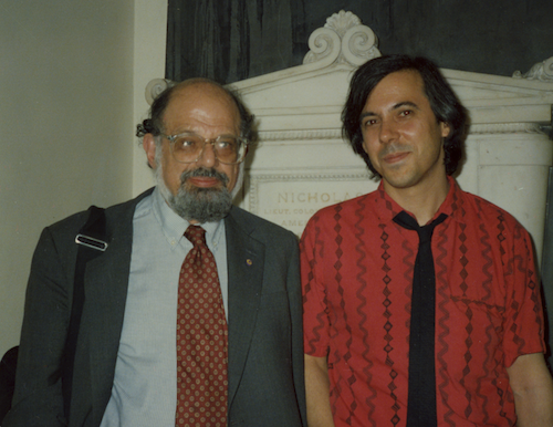 Standing with Allen at St. Mark's Church, May 18, 1989.