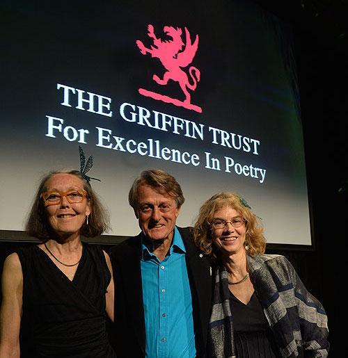From left to right: Anne Carson, Scott Griffin, Brenda Hillman.