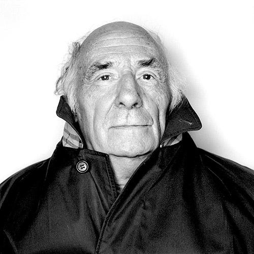 Jacques Roubaud photographed by Olivier Roller