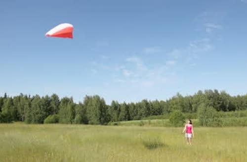stock-footage-girl-in-field-keeps-rope-from-kite-highly-in-dark-blue-sky
